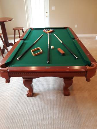 Solo Auburn Sportcraft Pool Table W High Top 2