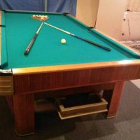 Antique 9' Slate Billiards Pool Table