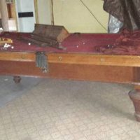 Antique 8 Foot Pool Table